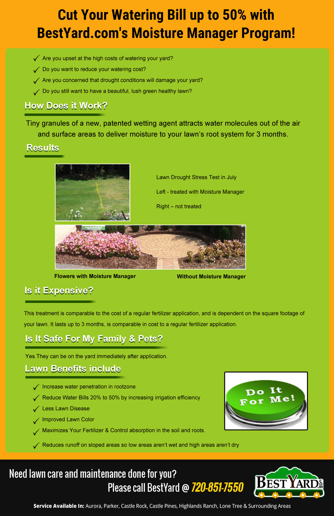 Moisture Manager Program : Cut Your Watering Bill up to 50%