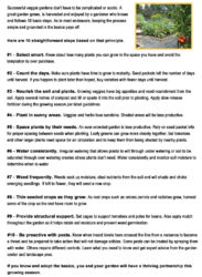 Simple Steps To Garden Success