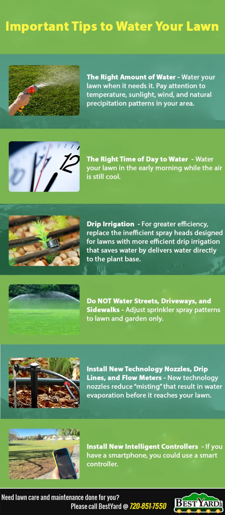 Infographic -Tips to water lawn